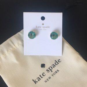 kate spade Jewelry - SEA GREEN TEAL Kate Spade Gumdrop Stud Earrings